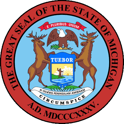 Michigan State Seal w/ State Motto