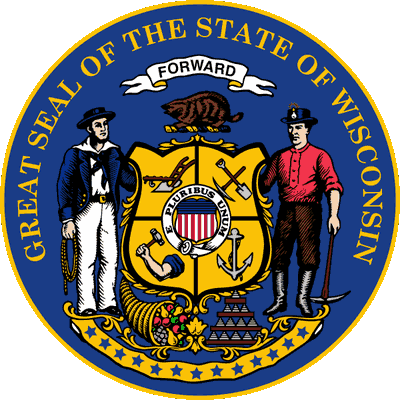 Wisconsin State Seal, symbol used by the state to authenticate certain documents.