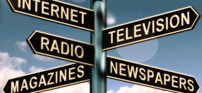 News Media: radio stations, tv networks, newspapers, magazines, and other news sources