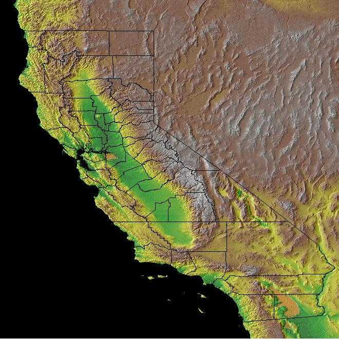 Map Of California Geography.California Geography California Regions And Landforms