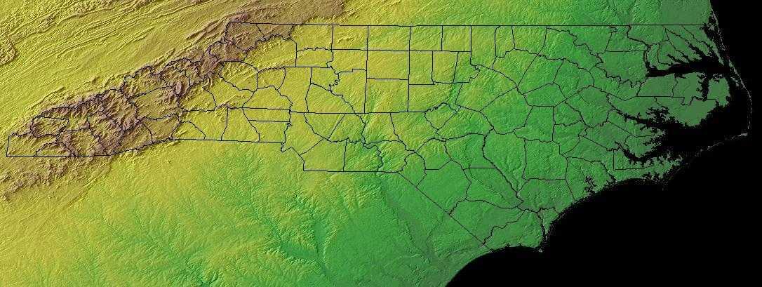 North Carolina Geography North Carolina Regions And Landforms