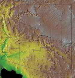 Geographical Map Of Arizona.Arizona Geography Arizona Regions And Landforms