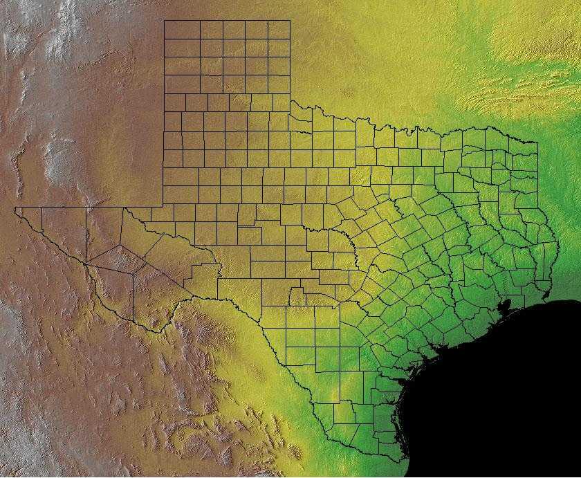 Landform Map Of Texas.Texas Geography Texas Regions And Landforms