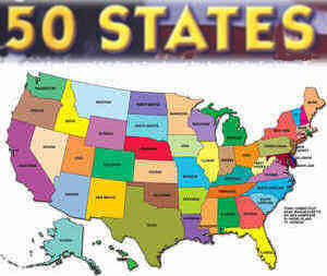 US Official State Names Name Origin And State Nicknames - Map of usa with states named